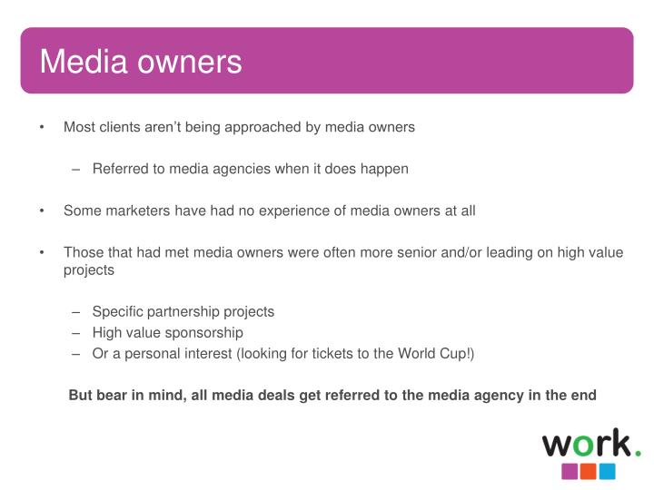 Media owners