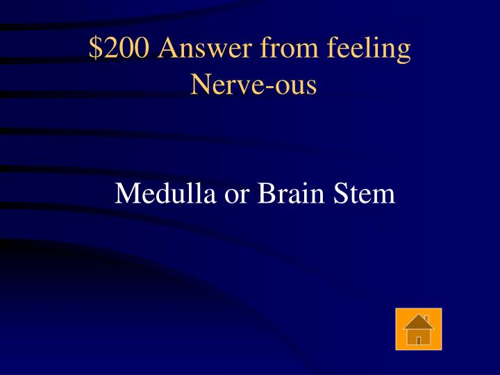 $200 Answer from feeling