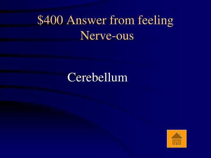 $400 Answer from feeling
