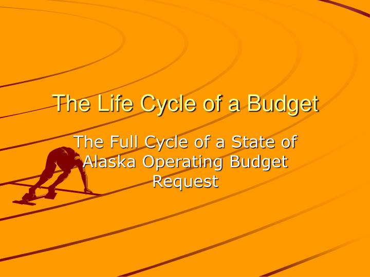 The life cycle of a budget