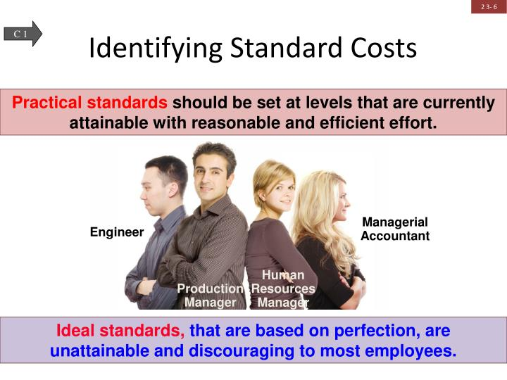 Identifying Standard Costs