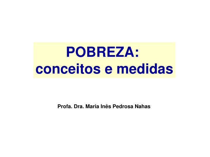 POBREZA: