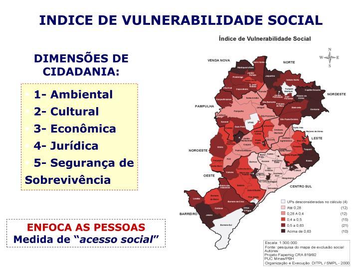 INDICE DE VULNERABILIDADE SOCIAL