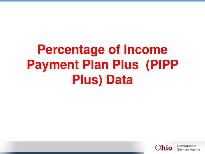 Percentage of Income Payment Plan Plus  (PIPP Plus) Data