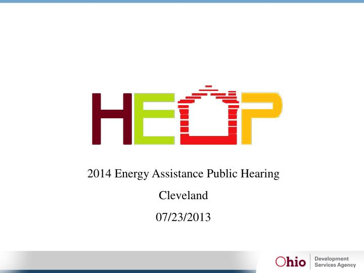 2014 Energy Assistance Public Hearing