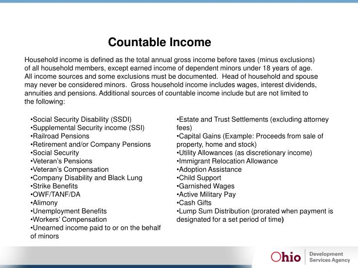 Countable Income