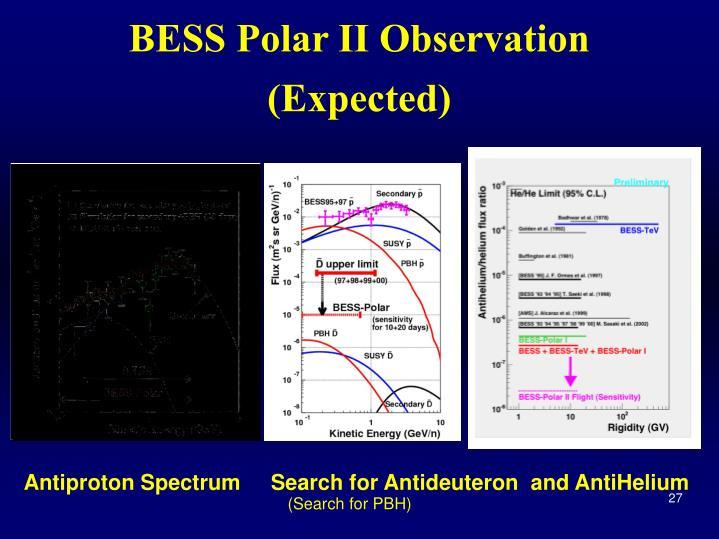 BESS Polar II Observation