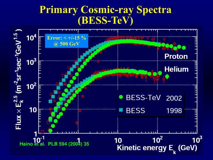 Primary Cosmic-ray Spectra