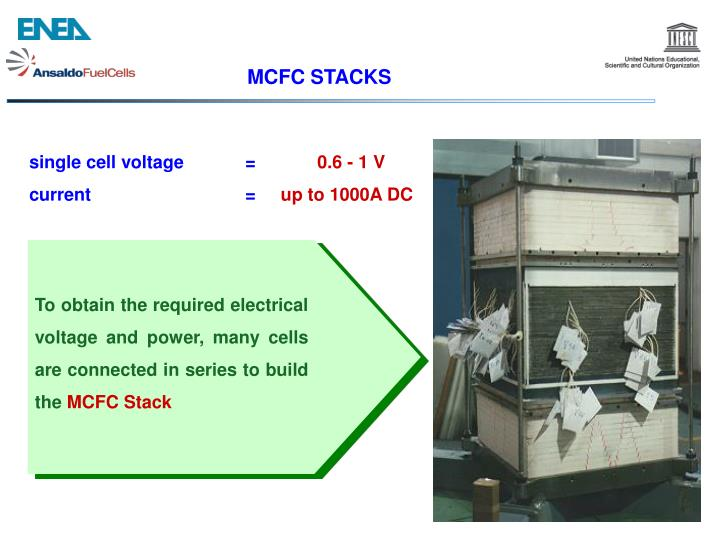 To obtain the required electrical voltage and power, many cells are connected in series to build the