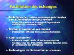 facilitation des changes