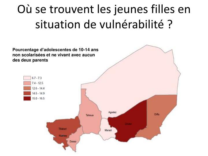 Où se trouvent les jeunes filles en situation de vulnérabilité ?