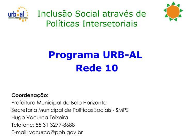 Inclusão Social através de Políticas Intersetoriais