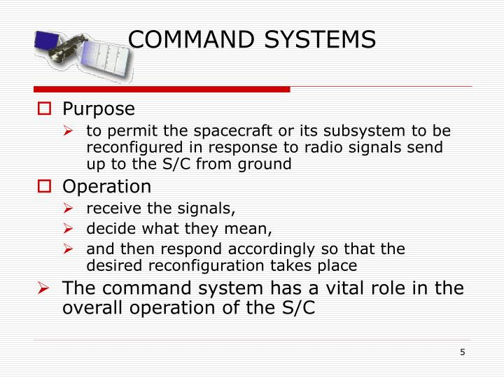 COMMAND SYSTEMS