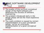 flight software development cont