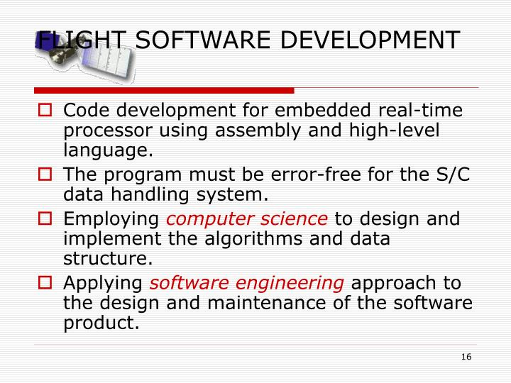 FLIGHT SOFTWARE DEVELOPMENT