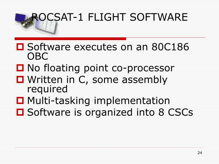 ROCSAT-1 FLIGHT SOFTWARE