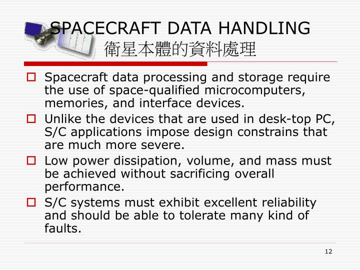 SPACECRAFT DATA HANDLING