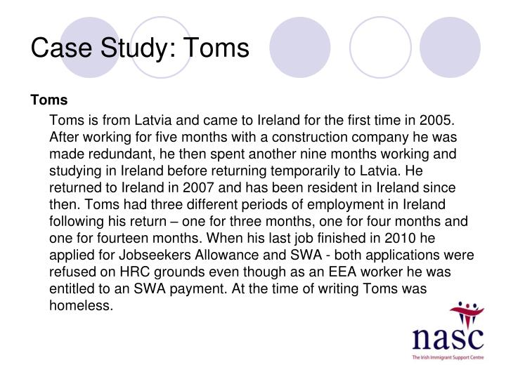 Case Study: Toms