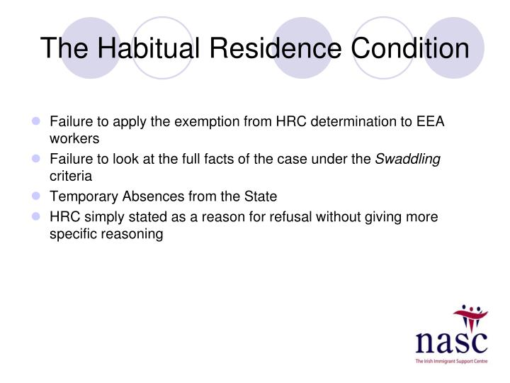 The Habitual Residence Condition