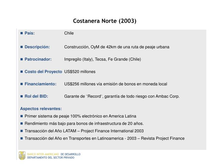 Costanera Norte (2003)