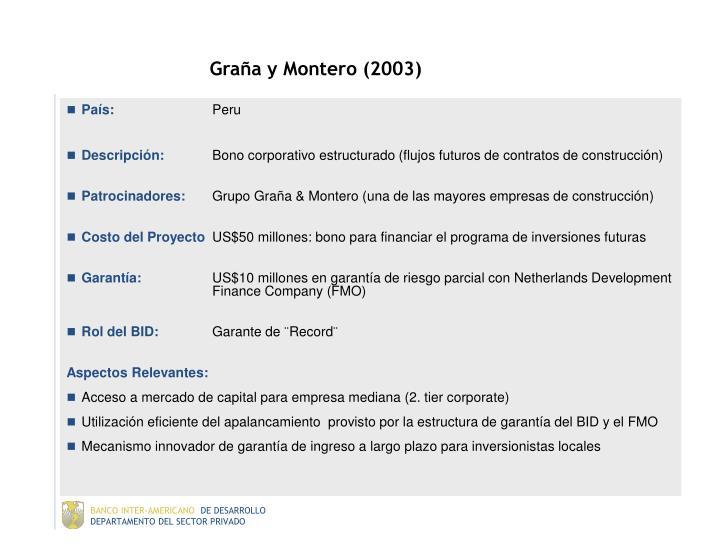 Graña y Montero (2003)