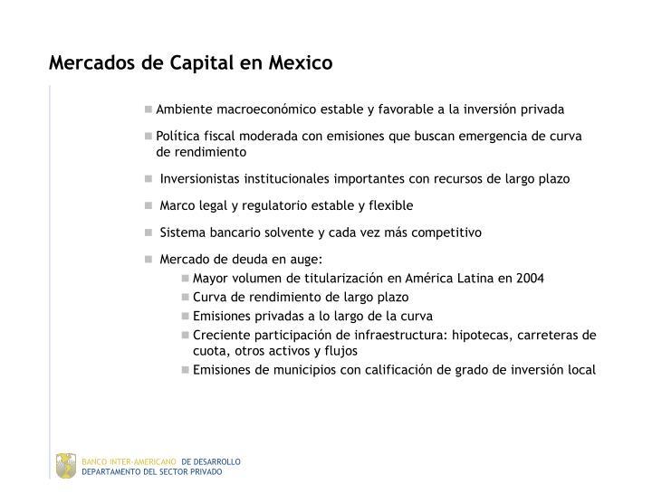 Mercados de Capital en Mexico