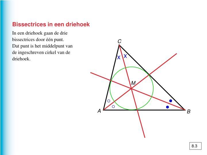 Bissectrices in een driehoek