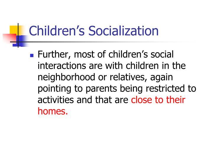 Children's Socialization