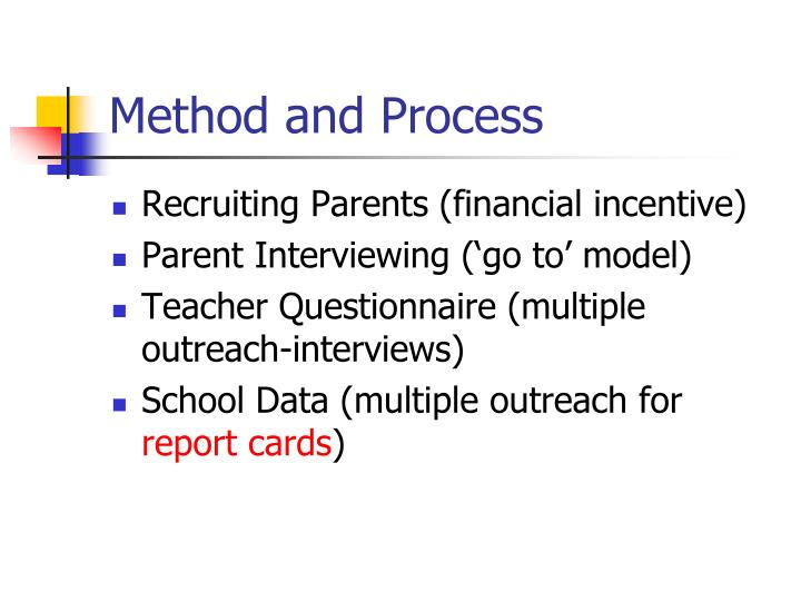Method and Process