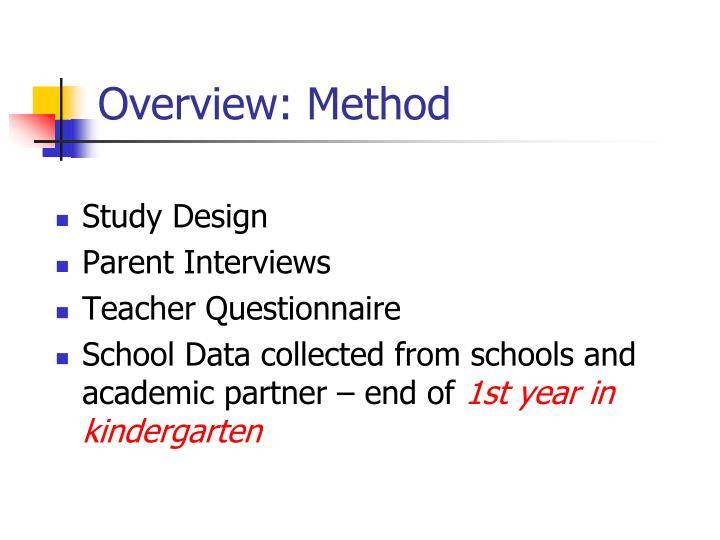 Overview: Method