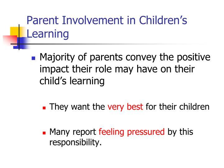 Parent Involvement in Children's Learning