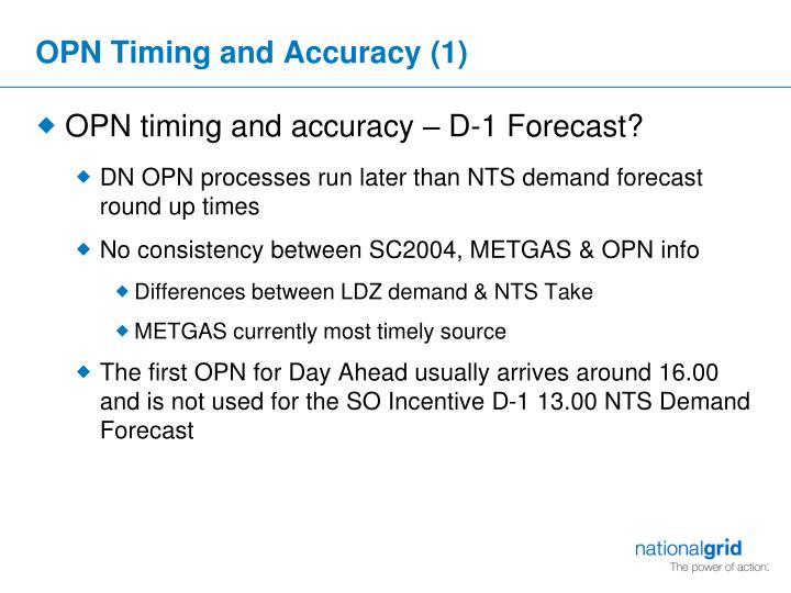 OPN Timing and Accuracy (1)