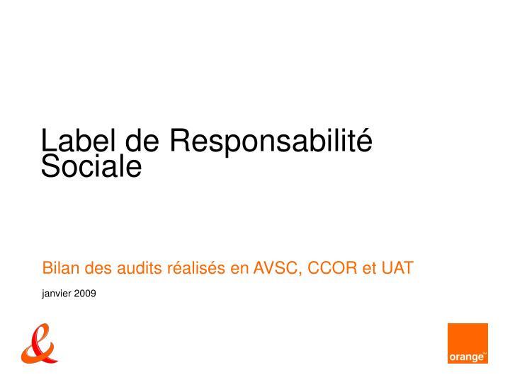 Label de Responsabilité Sociale