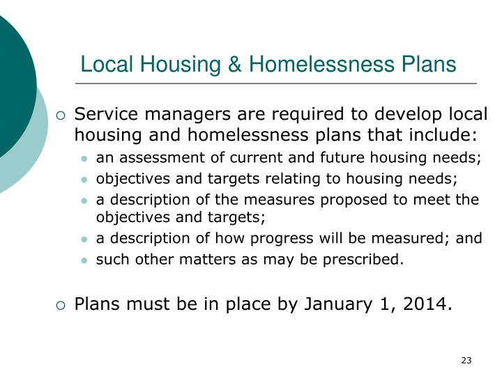 Local Housing & Homelessness Plans