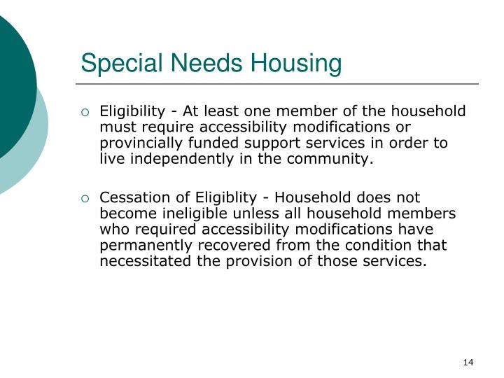 Special Needs Housing