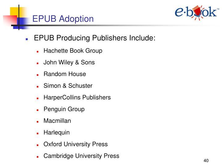 EPUB Adoption