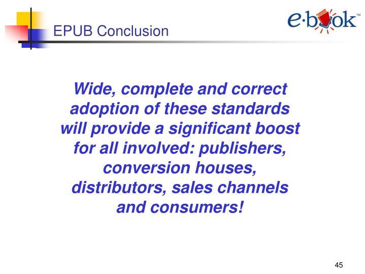 EPUB Conclusion