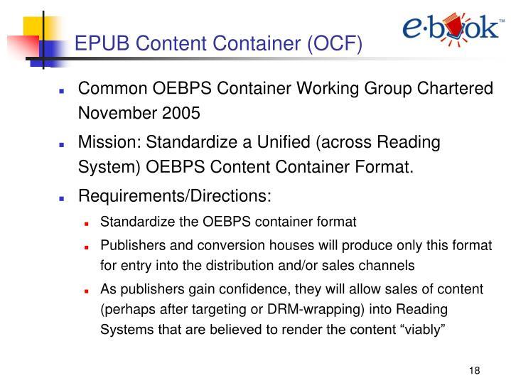 EPUB Content Container (OCF)