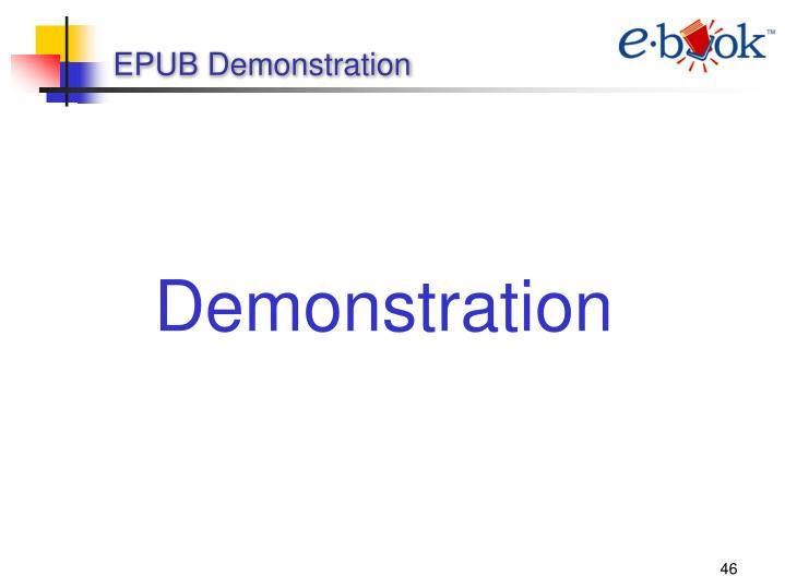 EPUB Demonstration
