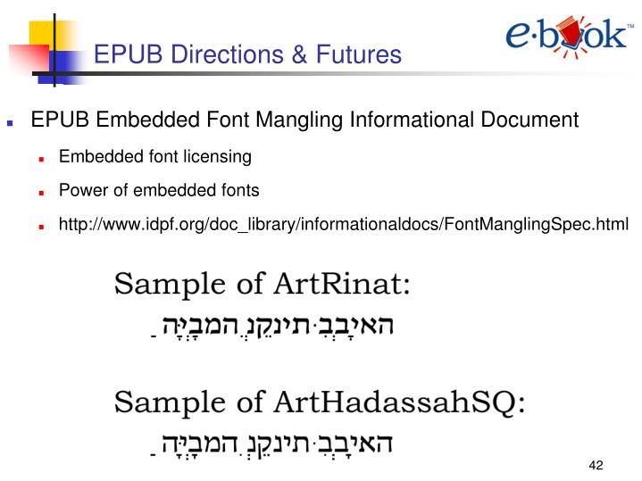 EPUB Directions & Futures