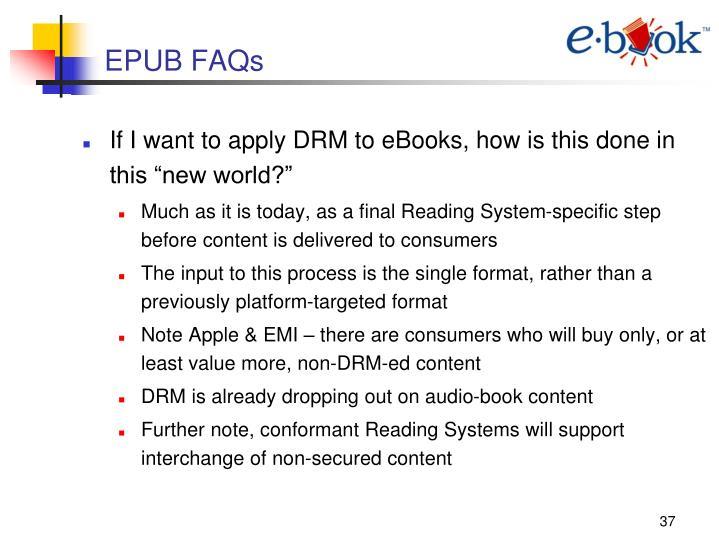 EPUB FAQs