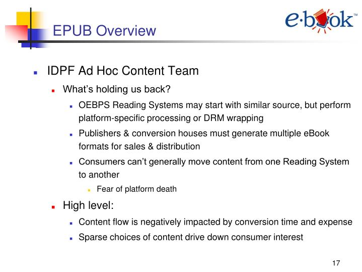 EPUB Overview