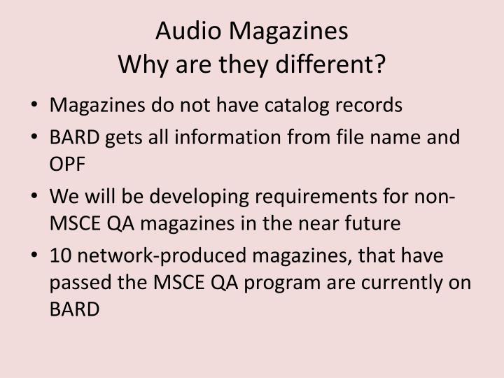 Audio Magazines