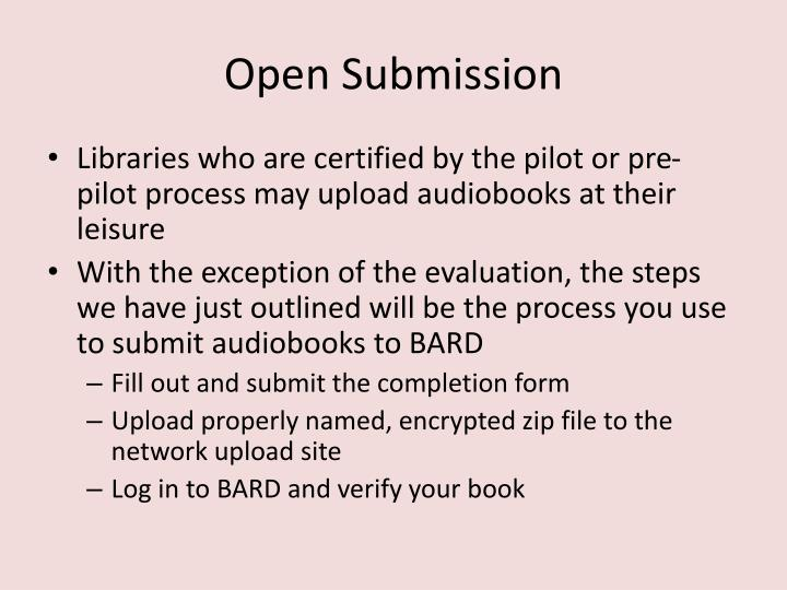 Open Submission