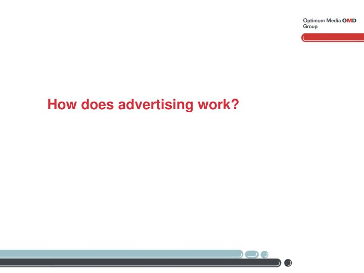 How does advertising work?
