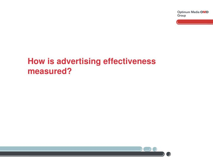 How is advertising effectiveness measured?