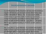 incorporazione societ