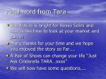 final word from tara