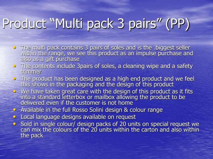 """Product """"Multi pack 3 pairs"""" (PP)"""