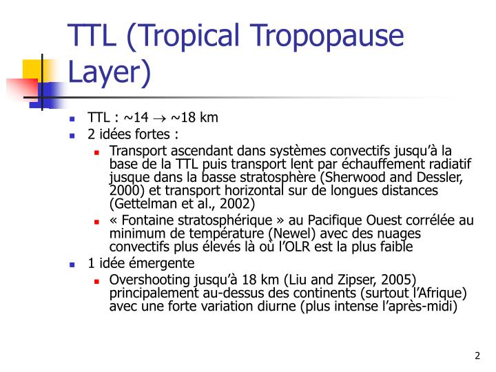 TTL (Tropical Tropopause Layer)